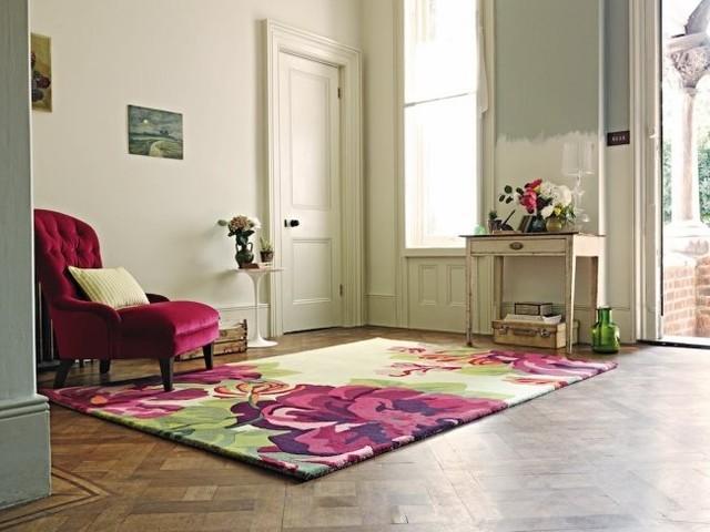 Modern rugs traditional-hall