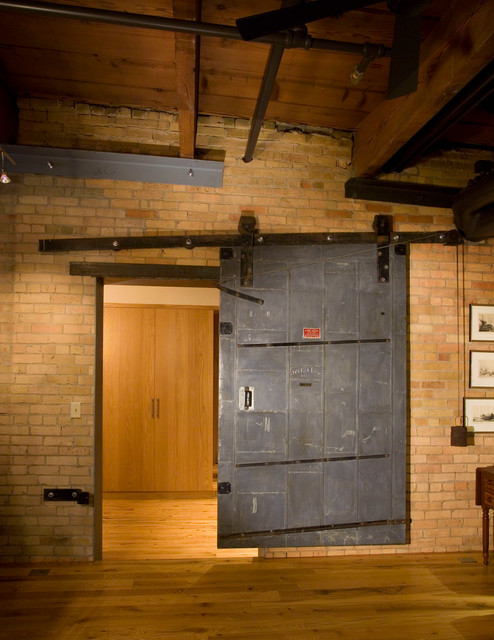 Modern Rustic Loft Rustic Hall Minneapolis By