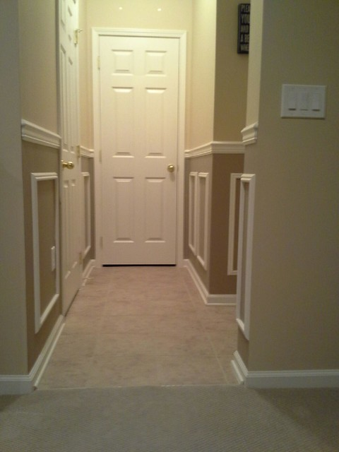 Moldings, Trim, Chair Rails, Wainscoting traditional-hall