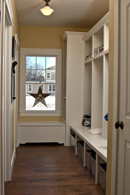 Mudroom Lockers and Storage Bench traditional hall