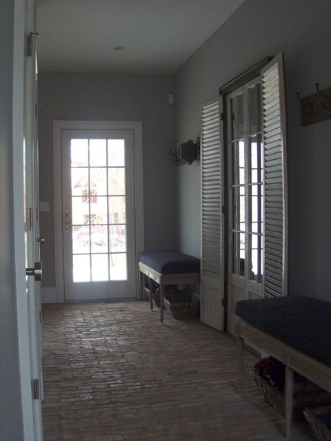 New Canaan custom farmhouse - interiors farmhouse-hall
