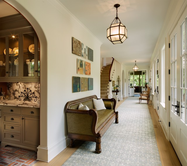 New Home Interior Design Traditional Hallway: New England Family Style House With An Eclectic Twist