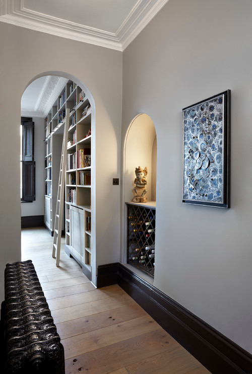 What Are The Grey Paint Colors Of Foyer Walls And Crown