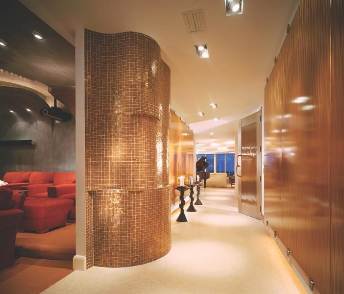 Hallway - contemporary hallway idea in San Diego