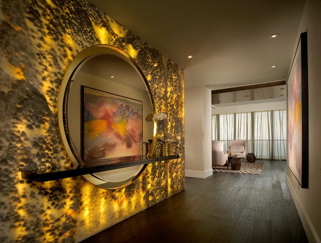 Onyx Black Cloud Backlit Contemporary Hall Miami