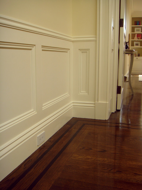 Pacific Heights Home Wall contemporary-hall