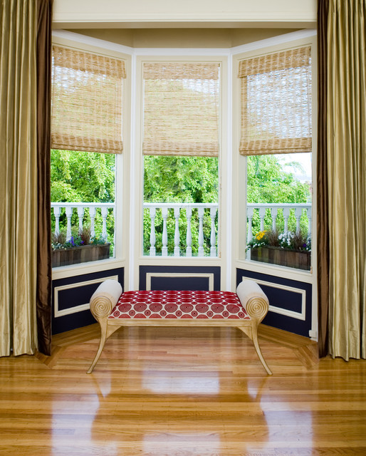 Pacific Heights Pop - Bay window by Kimball Starr Interior Design  contemporary-hall