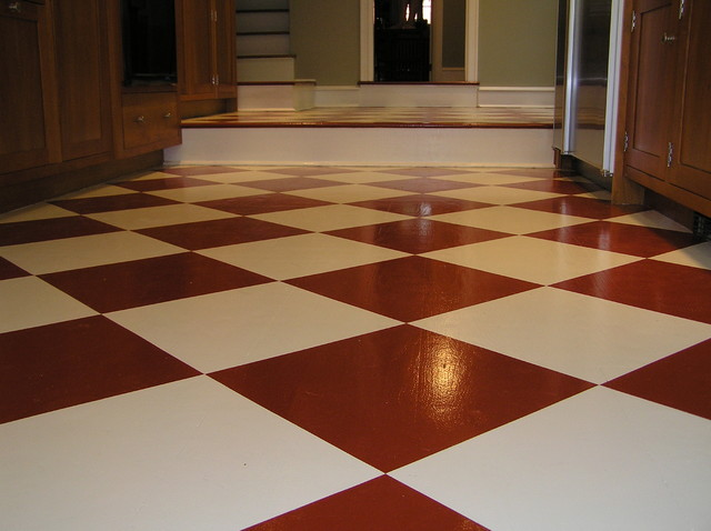 Painted Floor contemporary-hall