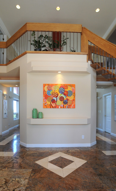 """Painting """"Seeds of Life"""" in a private home transitional-hall"""