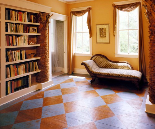 66757 0 8 5147 eclectic hall Harlequin Patterned Wood Flooring