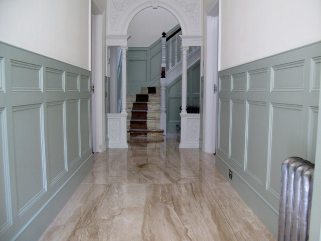 Panelling To Hallway And Stairs Built On Site  Contemporary Hallway And Landing