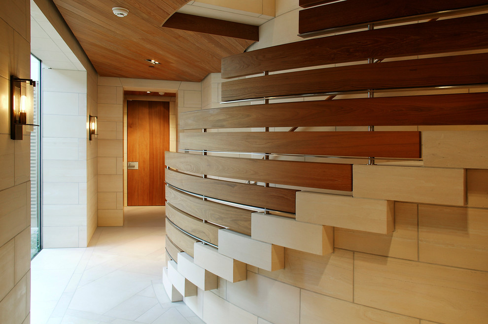 Inspiration for a mid-sized contemporary hallway remodel in San Francisco