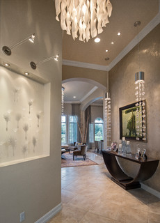 Pelican Marsh Residence - Contemporary - Hall - Miami - by Barbara Rooch Interior Environments, Inc.