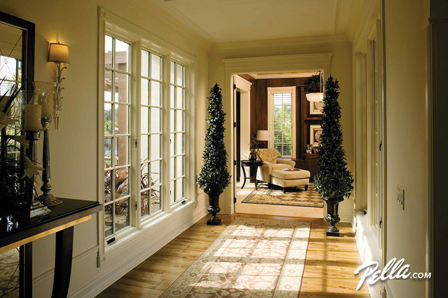 Pella architect series casement windows traditional for Pella casement window screens