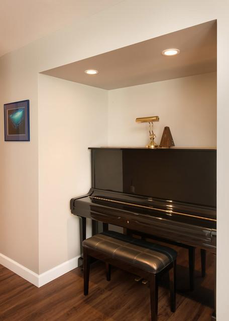 Piano Nook Contemporary Hallway amp Landing Vancouver