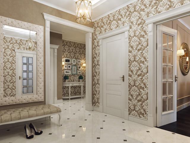 Pionerskaya str., project of the flat in Minsk traditional-hall