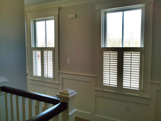 Plantation Shutters Traditional Hall Boston By