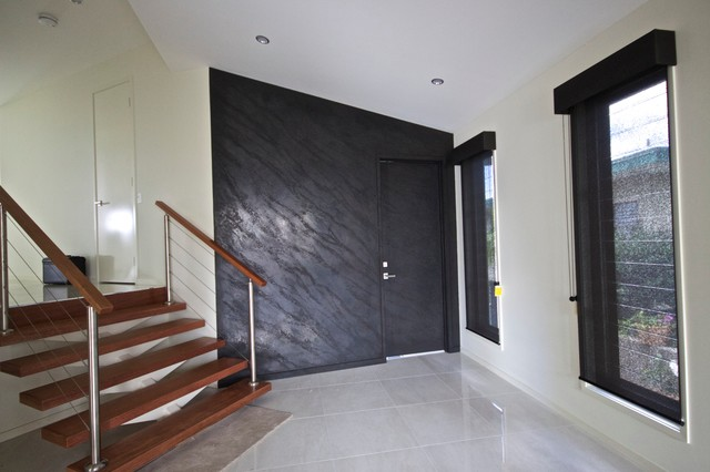 Polished plaster modern hall