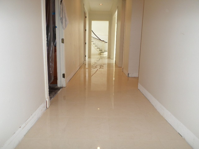 Polished Porcelain 24 Quot X24 Quot Tile With A 1 8 Quot Grout Line Modern Hall Tampa By Calcio Floors