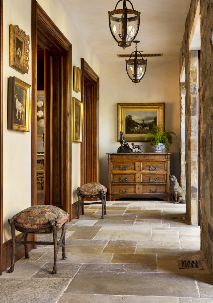 Mountain style beige floor hallway photo in San Francisco with beige walls