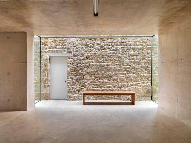 Minimalist Concrete Floor Hallway Photo In London
