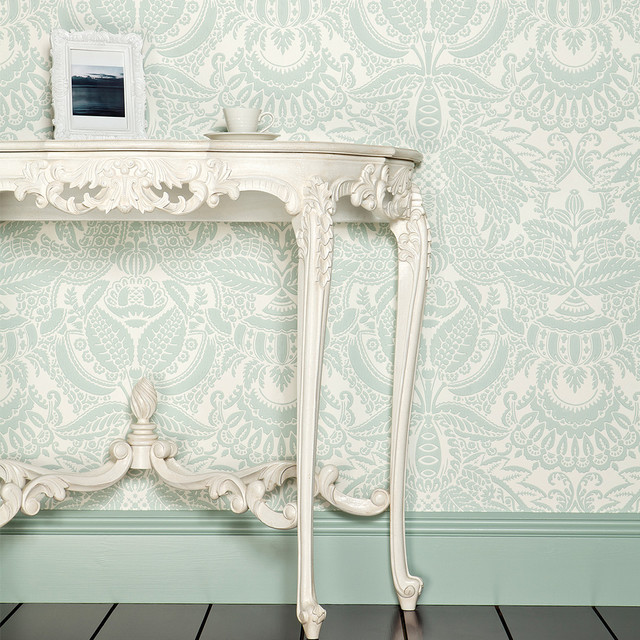 Provencal Marie Antoinette White Console Table Traditional Hallway Landing Sus