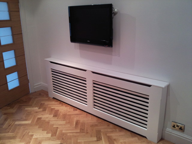 Pictures of kitchens modern white kitchen cabinets kitchen 12 - Radiator Covers Contemporary Hall Manchester Uk By