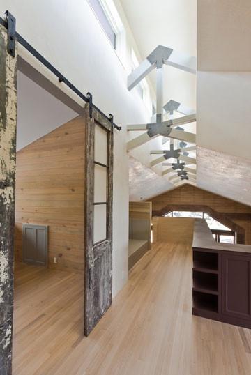 Rammed Earth Hallway modern-hall