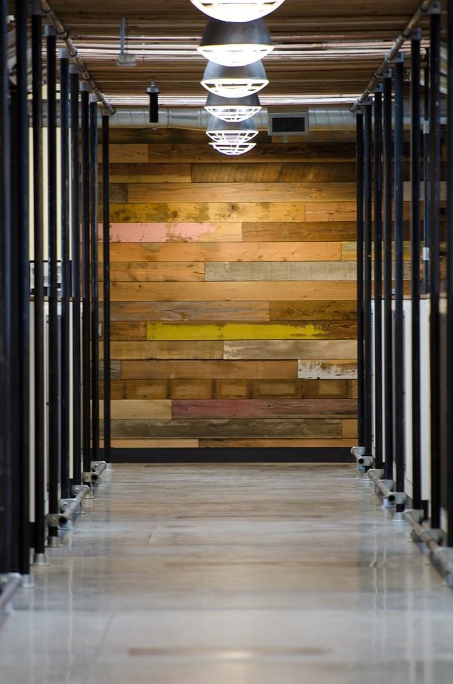 Hallway - large industrial hallway idea in Portland