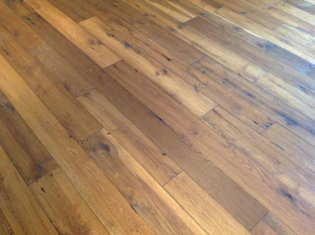 Reclaimed Oak Flooring Rustic Hallway Landing