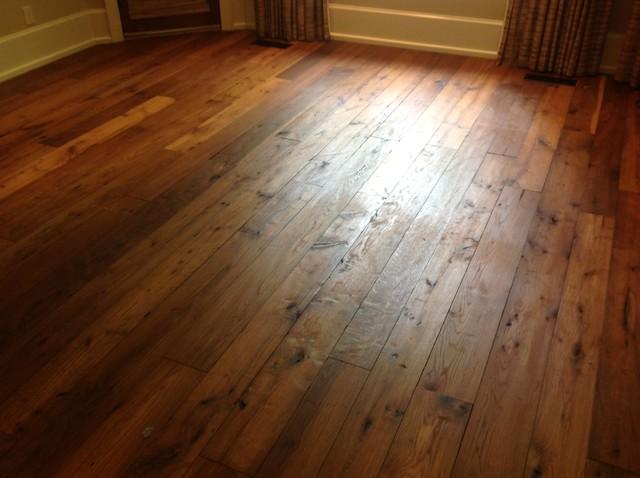 Reclaimed oak flooring rustic hall raleigh by for Rustic red oak flooring
