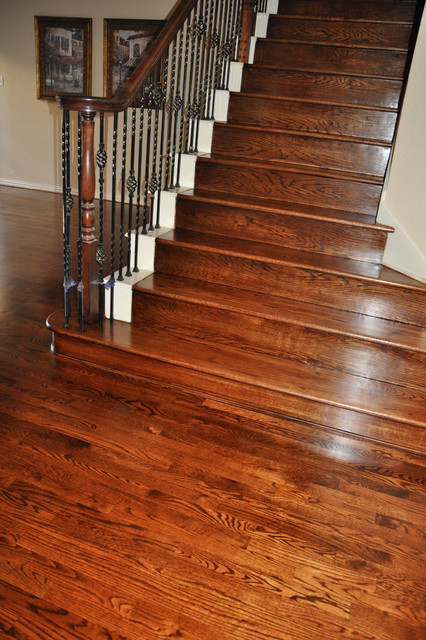 Refinish - Smooth Hardwood Stairs - Traditional - Dallas ...