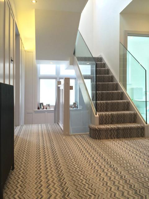 refurbishment extension and loft conversion east finchley contemporary hall london av. Black Bedroom Furniture Sets. Home Design Ideas