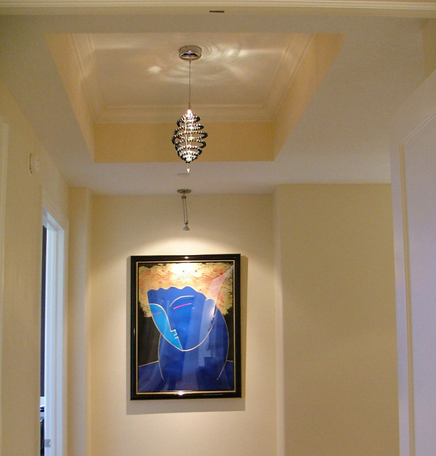 Residential lighting contemporary hall tampa by for Modern residential lighting