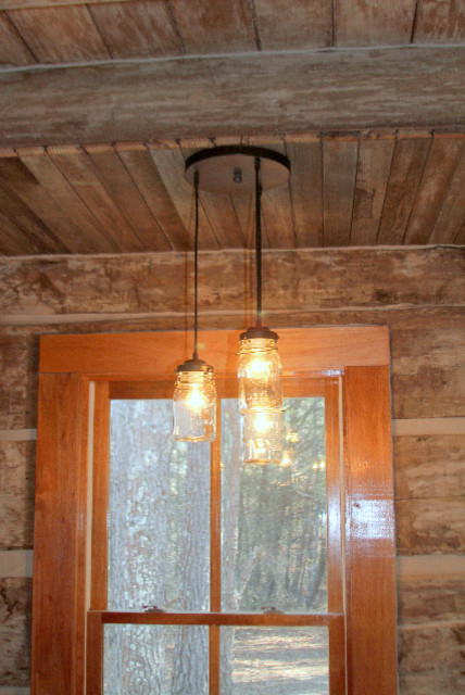 Residential lighting rustic hall portland maine by for Houzz rustic lighting