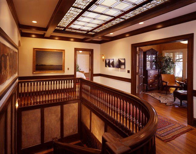 Restored Second Floor Stair Hall Craftsman Hall