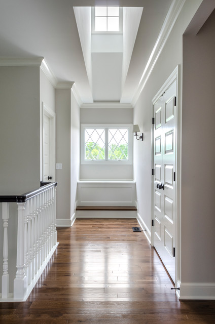 Inspiration for a timeless hallway remodel in Cleveland