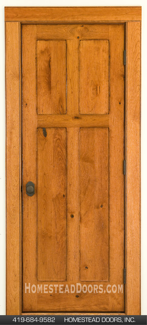 Rustic Doors Cherry 4-panel Design mediterranean-hall : homestead doors - pezcame.com