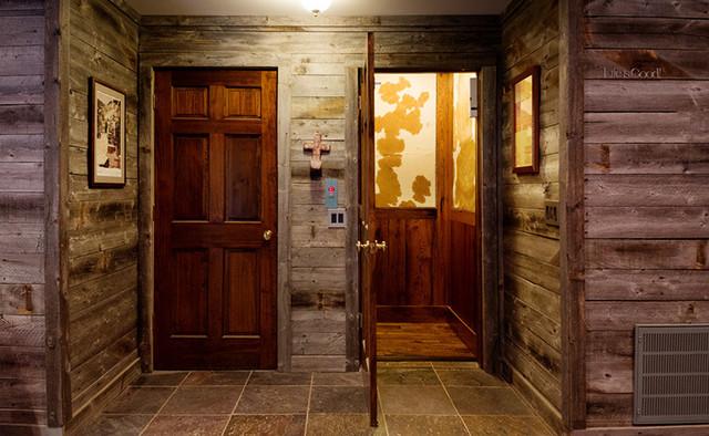 Rustic Log Cabin Elevator Rustic Hall Nashville By