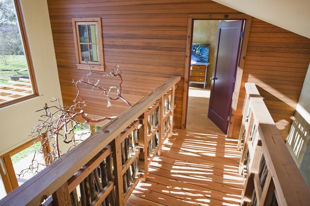 Santa Cruz Straw Bale House rustic-hall