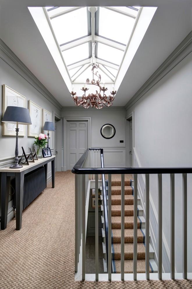 Hallway - transitional hallway idea in London
