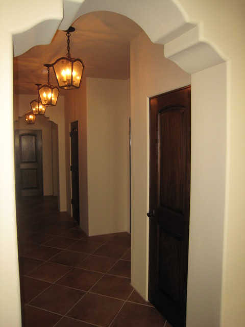 Shaped Arch Hallway Mediterranean Hall Los Angeles by RA