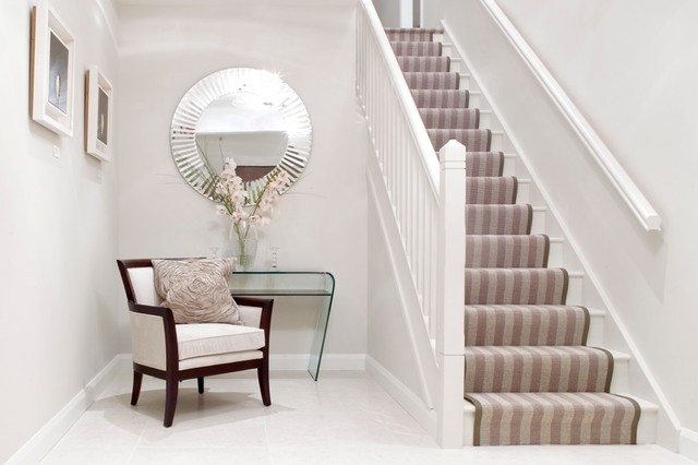 Showhouse property Contemporary Hallway Landing Dublin by
