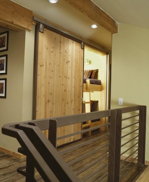 Ski House rustic-hall