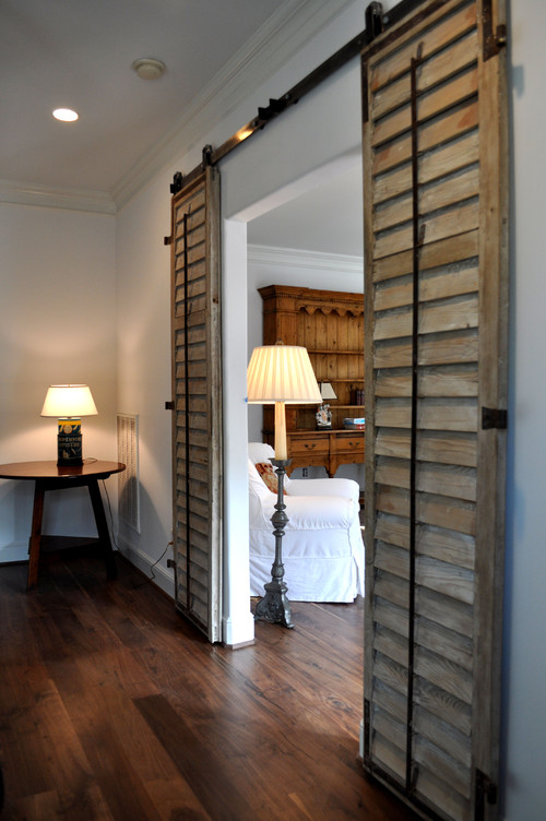 Barn door styled shutters, on Houzz