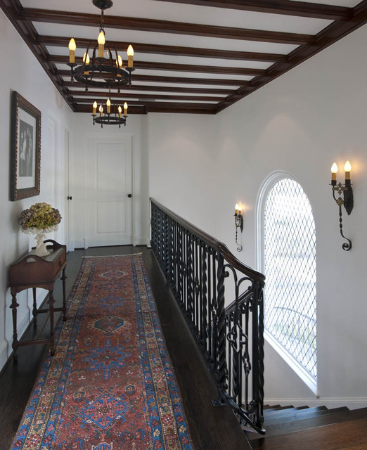 Spanish Colonial Remodel eclectic hall