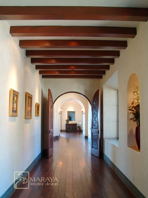 Spanish Mission Revival Hall Rustic Hall Santa Barbara By Maraya Interior Design
