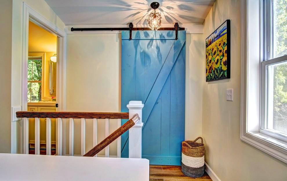 Hallway - cottage hallway idea in Minneapolis