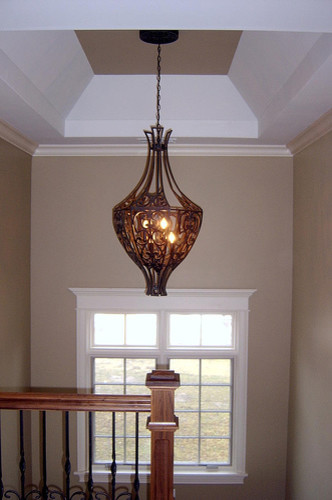 Staircase Light Fixture Traditional Hall