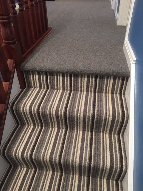 Stripe Plain Mix Carpet Design